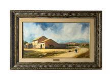Betti Bernay 1926-2010 Farm Landscape Oil Painting