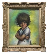Betti Bernay (1926-2010) Child with Tears Painting