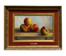 Betti Bernay (1926-2010) Apple Still Life Painting