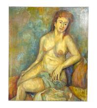 Humbert Howard 1905-1990 Nude Female Oil Painting