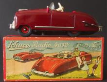 SCHUCO #4012 WINDUP RADIO TOY CAR W/BOX