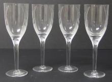 4 LALIQUE ANGEL WINE GLASSES