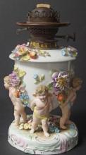 19TH CENTURY SITZENDORF LAMP