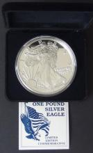 ONE TROY POUND SILVER EAGLE COIN