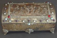 FRENCH MIXED METAL JEWELRY BOX
