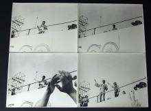 4 JIMI HENDRIX PHOTOGRAPHIC PRINTS