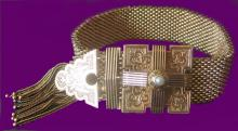VICTORIAN 14KT GOLD TASSEL BRACELET