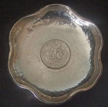 PERUVIAN STERLING COIN TRAY