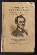 ORIGINAL ABRAHAM LINCOLN 1860 CAMPAIGN SONGBOOK