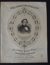 CIRCA 1850 FILMORE QUICK STEP SHEET MUSIC