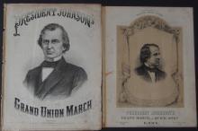 PRESIDENT JOHNSON 1865 SHEET MUSIC