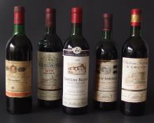 FIVE (5) BOTTLES VINTAGE FRENCH RED WINE