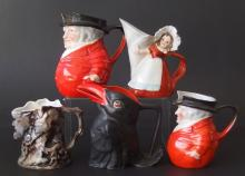 FIVE (5) ROYAL BAYREUTH NOVELTY CREAMERS
