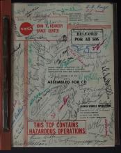 APOLLO 11 1969 AUTOGRAPHED LAUNCH BOOK