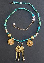 BYZANTINE GOLD PENDANT NECKLACE