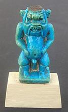 EGYPTIAN FAIENCE BES AMULET  3rd Int.Period