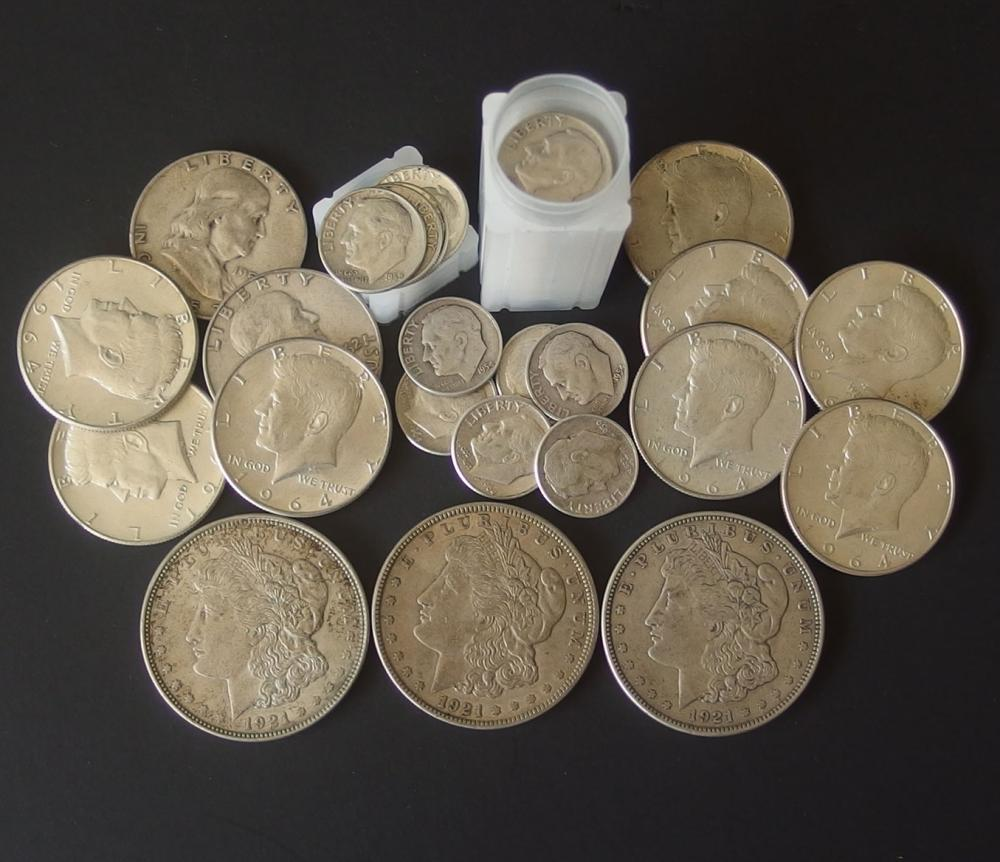 U.S. SILVER COIN COLLECTION (63 PCS)