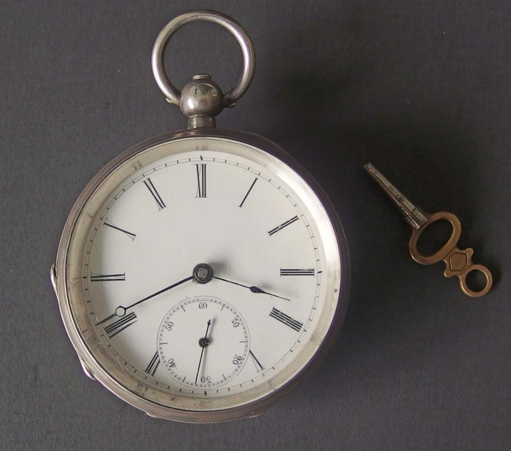ANTIQUE ENGLISH STERLING POCKET WATCH