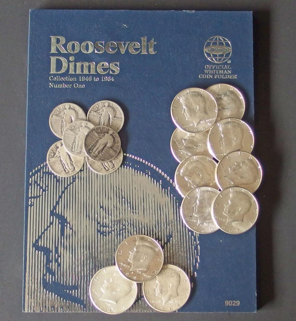 US SILVER COIN COLLECTION (67 coins)