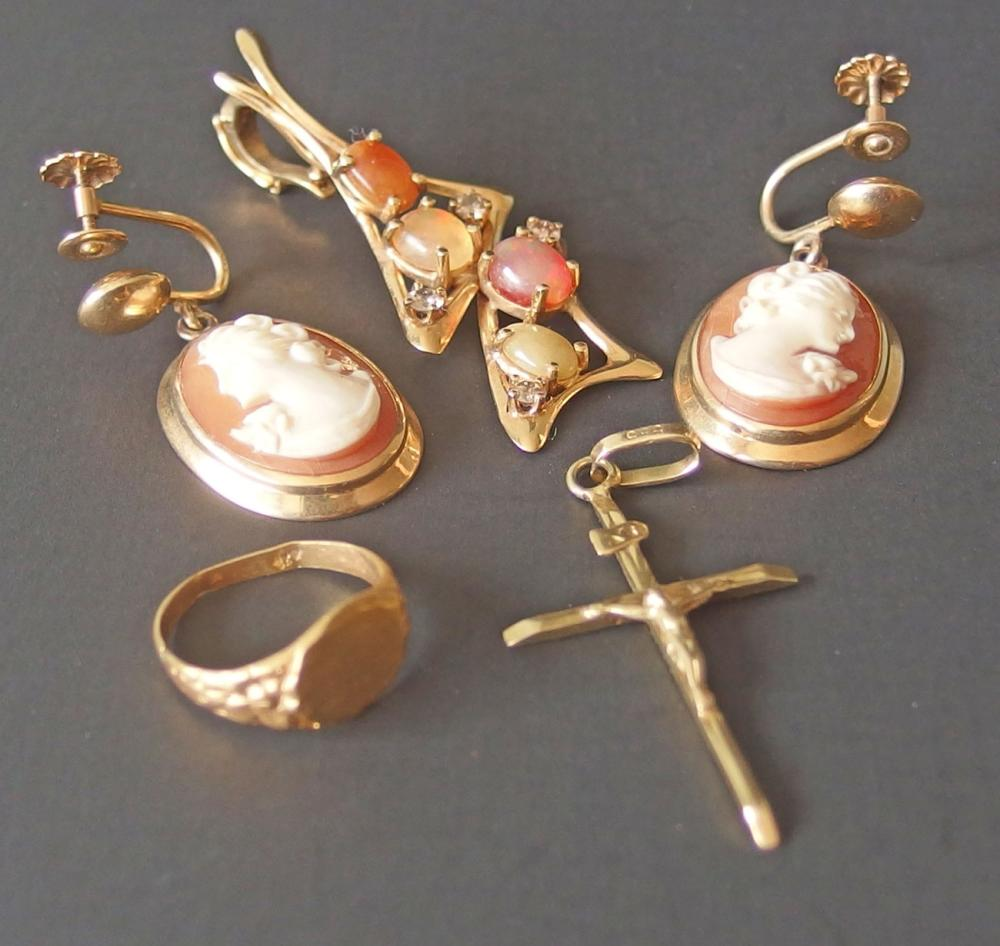 14KT GOLD JEWELRY COLLECTION (4 PCS)