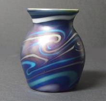 PHOENIX STUDIOS ART GLASS VASE