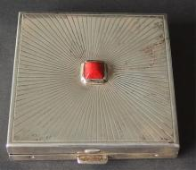 CARTIER STERLING SILVER COMPACT