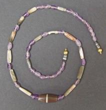 EGYPTIAN AGATE & AMETHYST NECKLACE Late Period