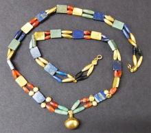 EGYPTIAN DOUBLE STRANDED GOLD NECKLACE New Kingdom