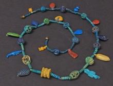 EGYPTIAN MULTI-AMULET NECKLACE New Kingdom/Amarna