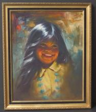 EDWARD RUNCI ORIGINAL PORTRAIT PAINTING