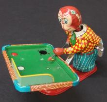 TPS JAPAN LUCKY MONKEY BILLIARD PLAYER TOY