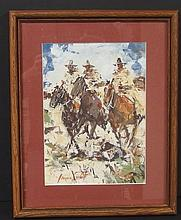 JAMES LEE COLT ORIGINAL WESTERN PAINTING