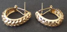 PAIR OF 14KT GOLD EARRINGS