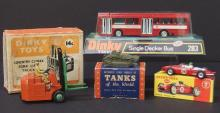 LOT OF MOSTLY DINKY TOYS W/ORIG BOXES