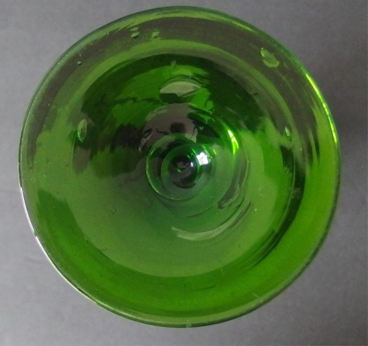 EMERALD GREEN MOSER ART GLASS VASE