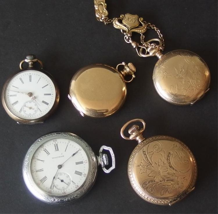 collection of antique pocket watches