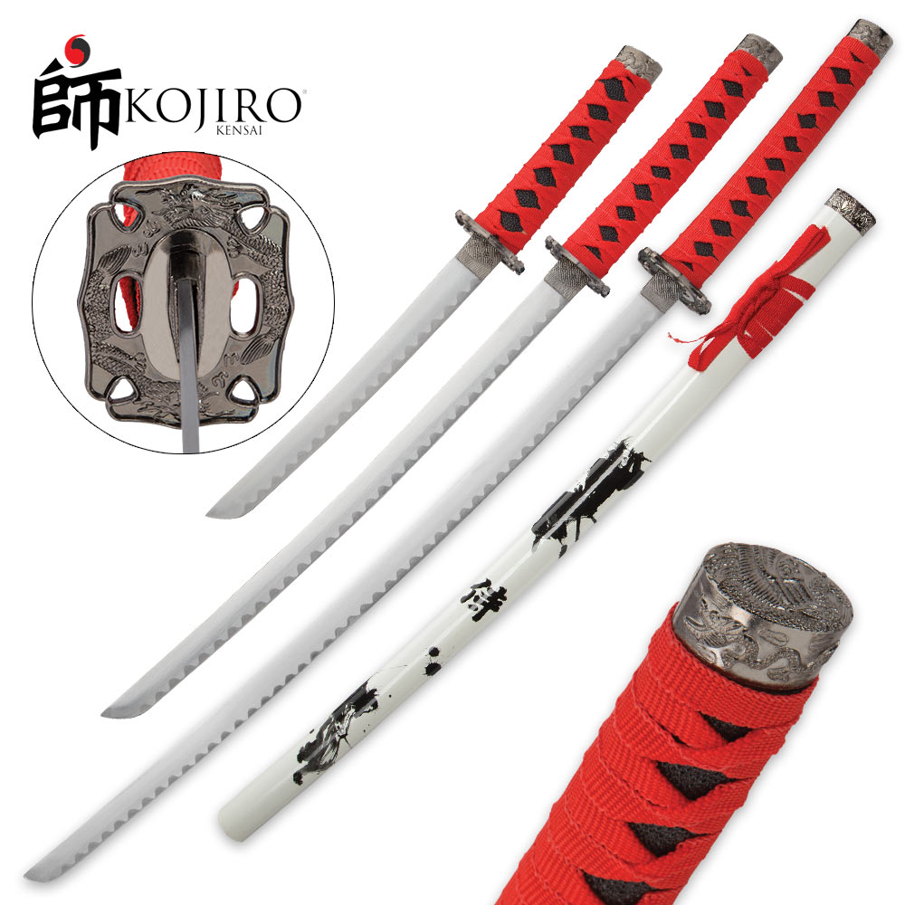 Lot 222: Kojiro Shadow Warrior 3-Piece Sword Set