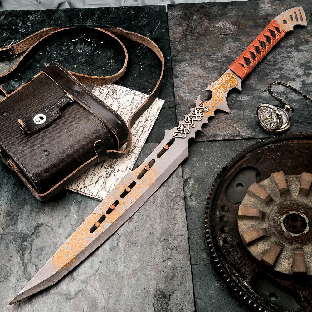Lot 229: Clockwork Apparatica Steampunk Fantasy Sword with Nylon Sheath