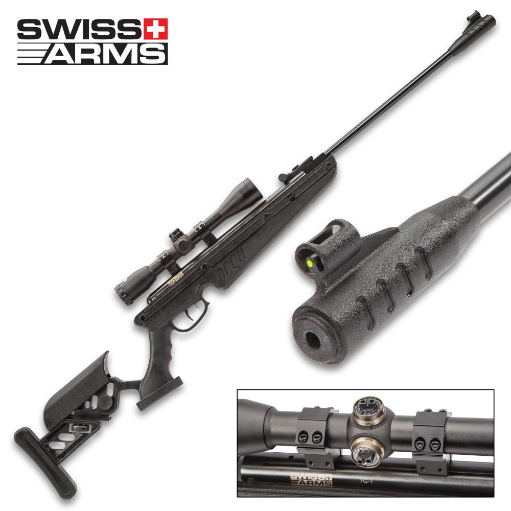 Lot 20: Swiss Arms TG-1 177 Airgun Black