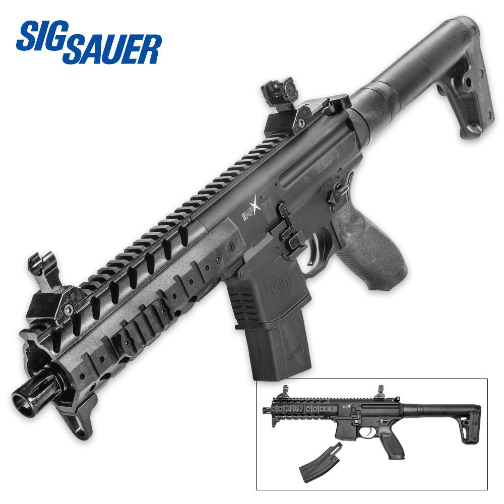 Lot 22: SIG Sauer MPX ASP .177 Caliber 88g CO2 Airgun Pellet Rifle