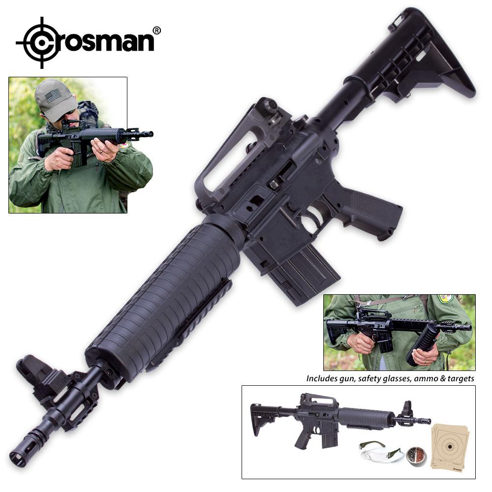 Lot 30: Crosman M4-177 BB/Pellet Air Gun Kit