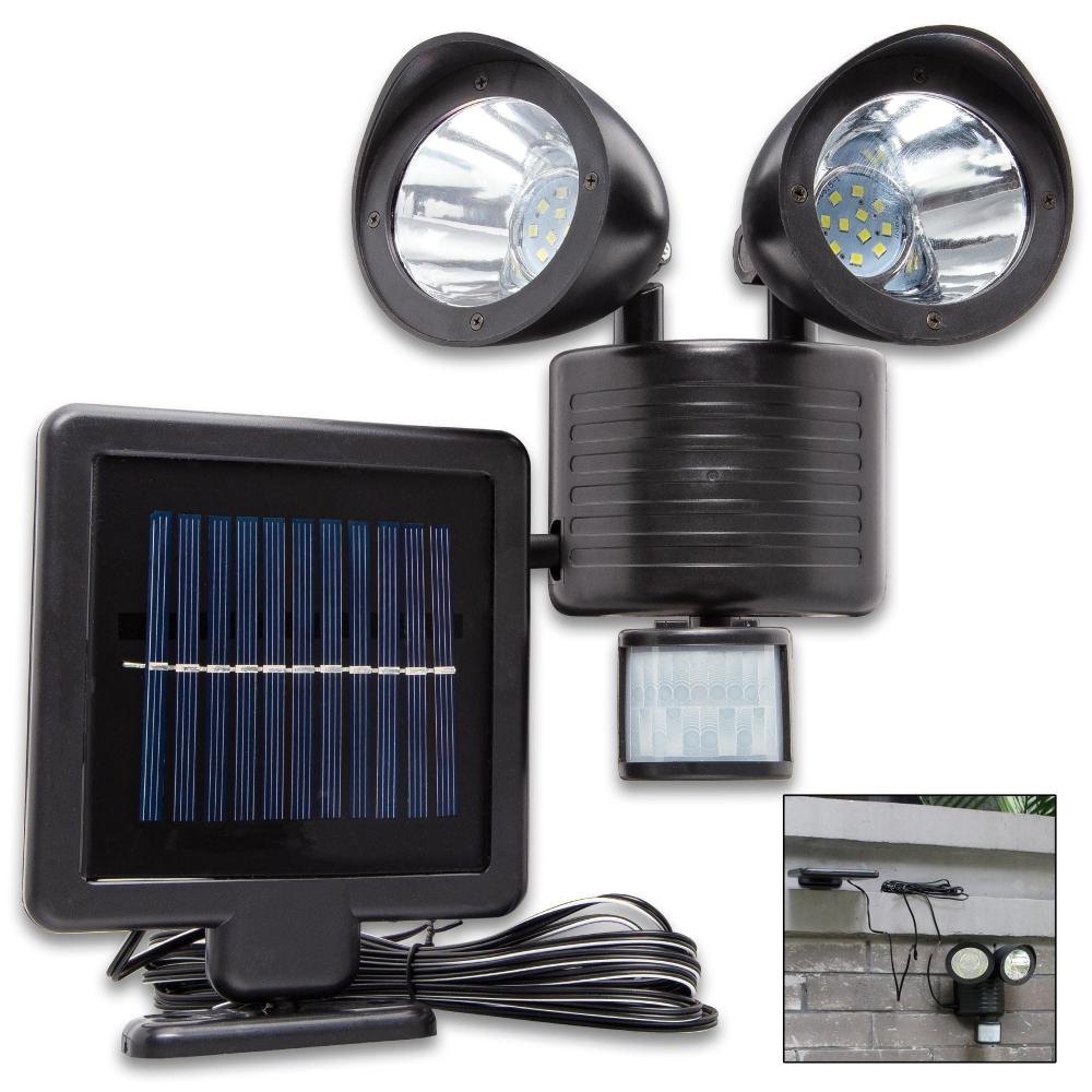 Lot 301: Night Watchman Outdoor Motion Security Light - 22 LEDS, Adjustable Sensitivity And Timing, Solar Powered Li-Ion Battery