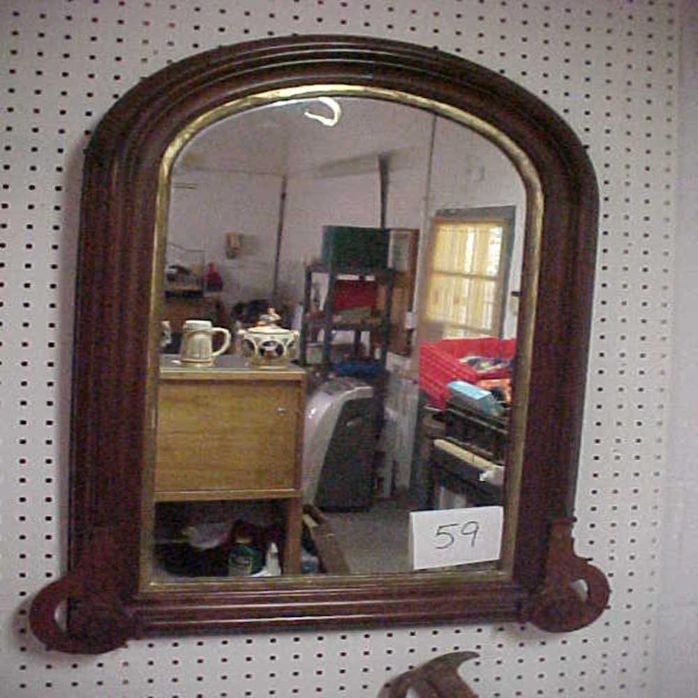 Lot 77: Antique Ornate Mirror