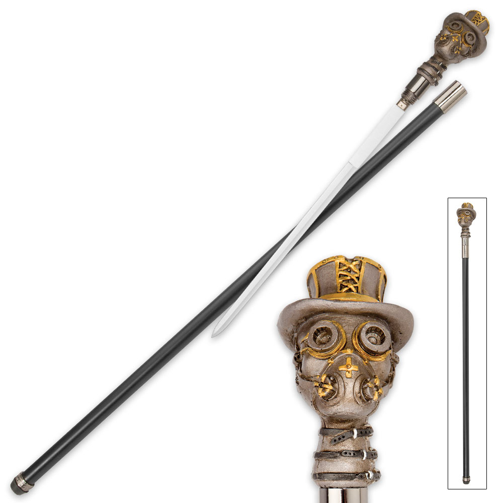 Toxic Gentleman Steampunk Sword Cane