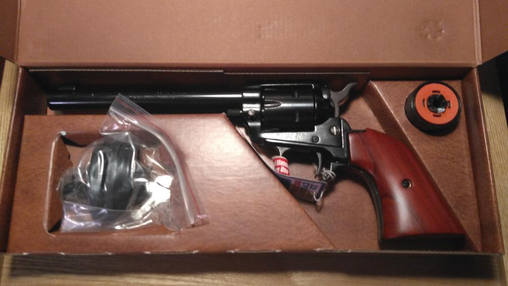 """Heritage Arms Rough Rider 22 caliber, 22 and 22 magnum cylinders, 6 1/2"""" barrel, new in the box!"""