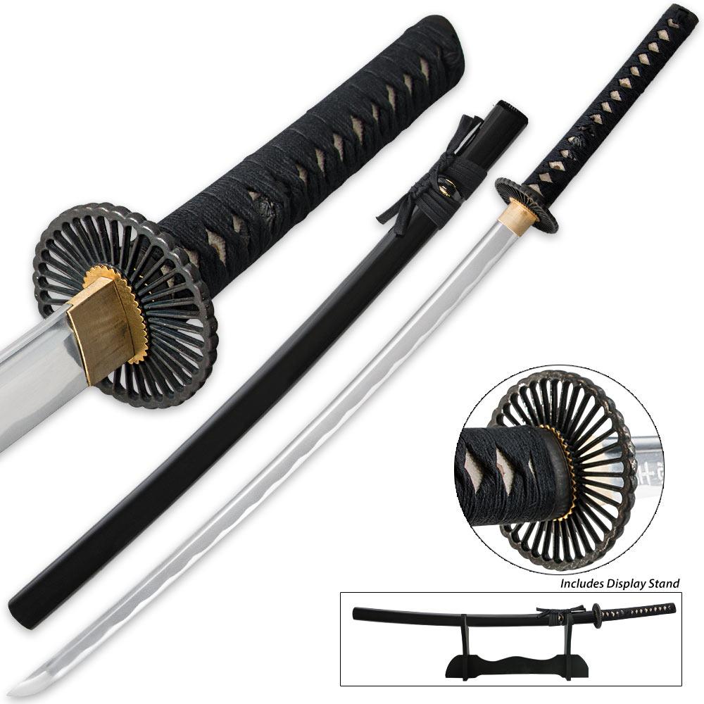 Lot 317: Last Samurai Katana - Handmade Carbon Steel - Fully Functional - Battle Ready Sword