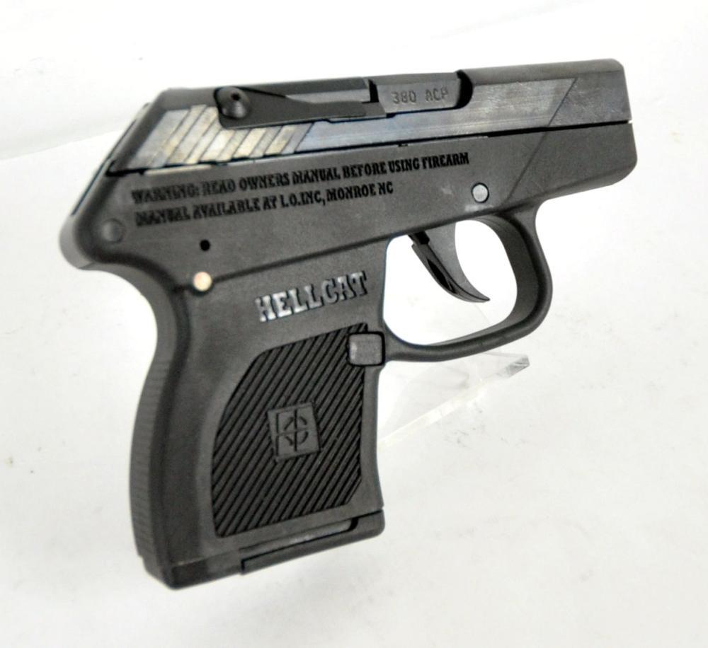 "I.O. Incorporated Hellcat Semi Automatic Handgun .380 ACP 2.75"" Barrel 7 Rounds Black Finish"