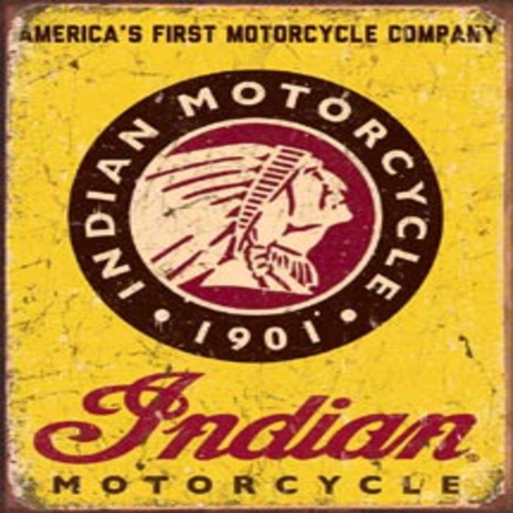 """Indian Since 1901  12.5""""Wx16""""H  SKU # 1934"""
