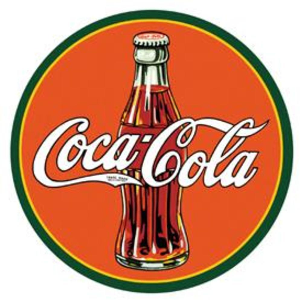 "COKE - Round 30's Bottle & Logo  11.75"" dia.  SKU # 1069"