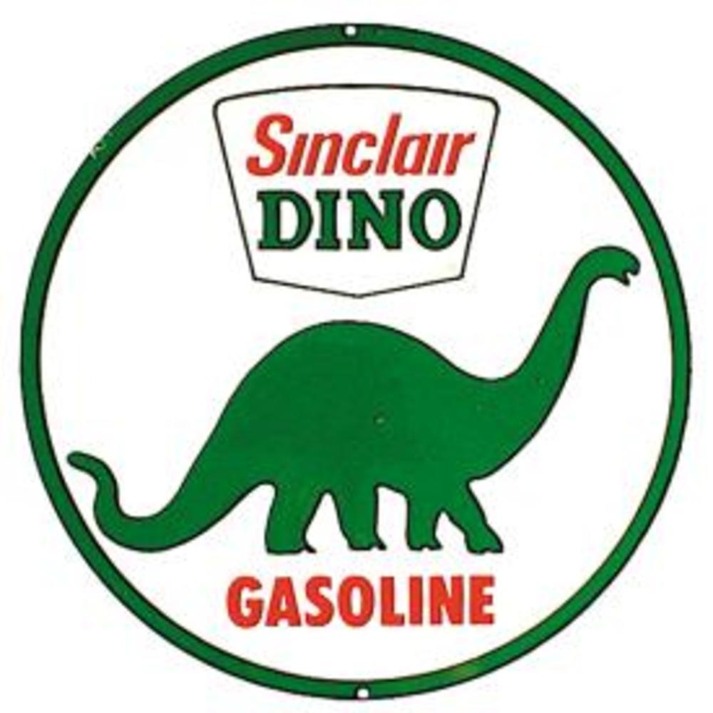 """Sinclair Dino Gasoline  11.75"""" Dia.  SKU # 207"""
